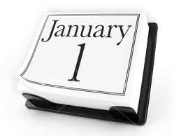January 1 Calendar Page