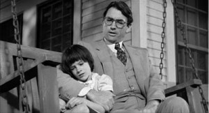 Atticus Finch and Scout from To Kill A Mockingbird
